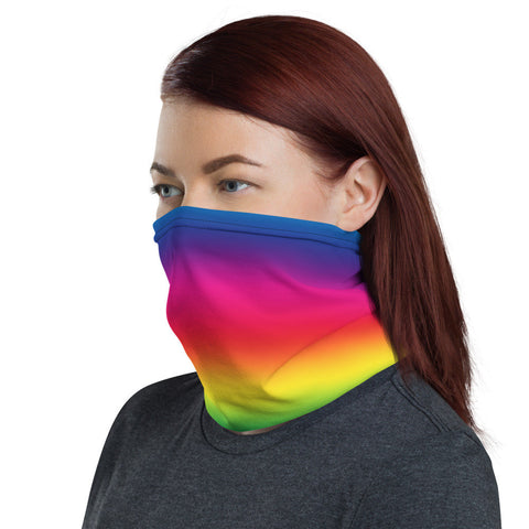 12 in 1 Rainbow Ombre Neck Gaiter Face Mask-Neck Gaiter-Eat me!