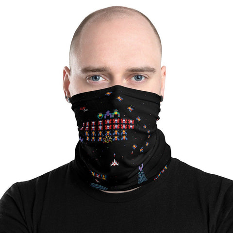 12 in 1 Galaga Neck Gaiter 80s Videogame Face Mask-Neck Gaiter-Eat me!