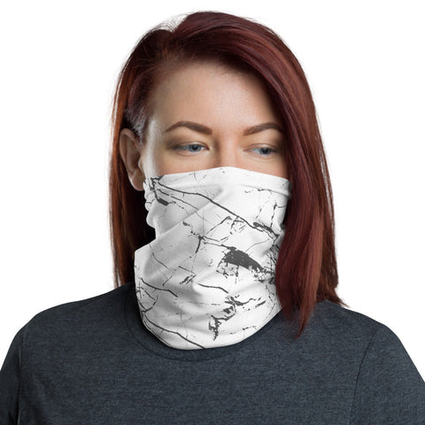 12 in 1 Black Marble Neck Gaiter Face Mask-Neck Gaiter-Eat me!