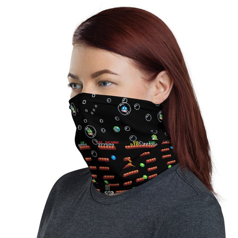 12 in 1 Bubble Bobble Neck Gaiter Face Mask-Neck Gaiter-Eat me!