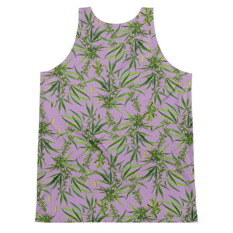 Cannabis Sativa Lilac Sleeveless Shirt-Sleeveless Shirt-Eat me!