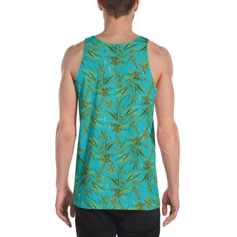 Cannabis Sativa Turquoise Sleeveless Shirt | Musculosa Cannabis Sativa
