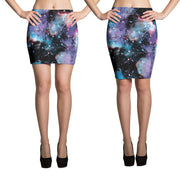 Universal Galaxy Pencil Skirt-Skirts-Eat me!