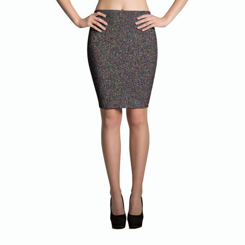 Crystallized Pencil Skirt | Falda Tubo Mosaicolor