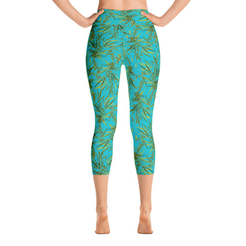Cannabis Sativa Yoga Leggings-Yoga Leggings-Eat me!