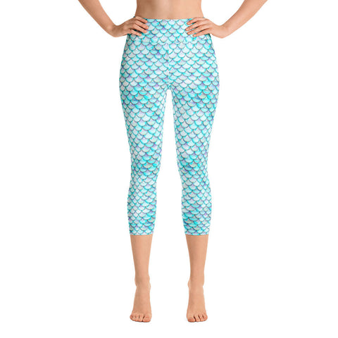 White Mermaid Yoga Leggings | Yoga Leggings Sirena Blanca