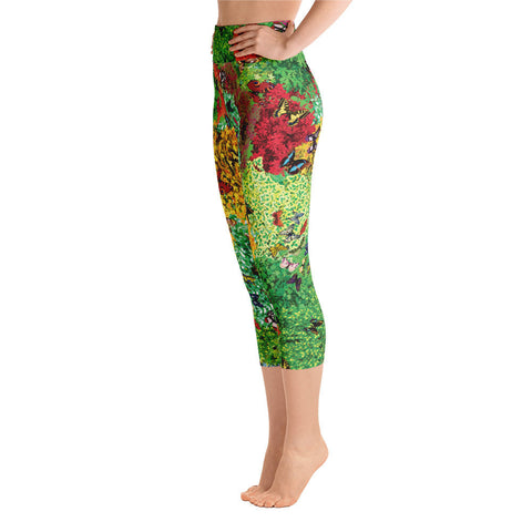 Plants & Butterflies Yoga Pants | Mariposas y Plantas Yoga Leggings
