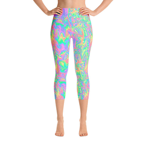 Acid Pastel Yoga Leggings | Yoga Leggings Acid Pastel