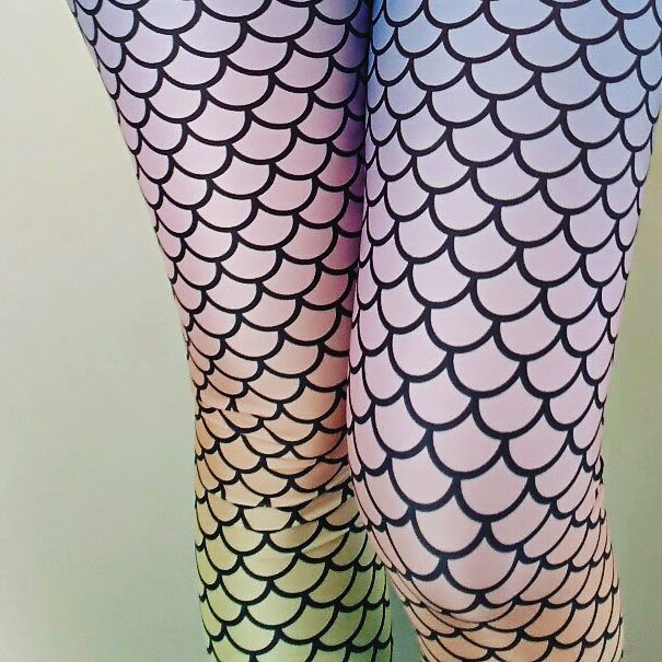 Mermaid Rainbow Leggings | Sirena Arco Iris Leggings-Leggings-Eat me!