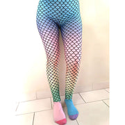 Mermaid Rainbow Leggings-Leggings-Eat me!