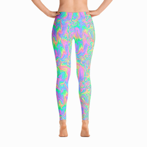Acid Pastel Leggings | Acid Pastel Leggings-Leggings-Eat me!