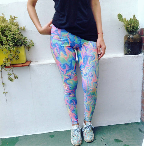 Acid Pastel Leggings | Acid Pastel Leggings