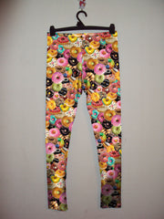 J Dilla loves Donuts Leggings-Leggings-Eat me!