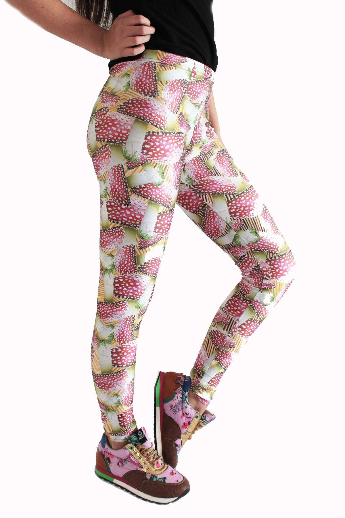 Amanita Leggings | Hongos Leggings-Leggings-Eat me!