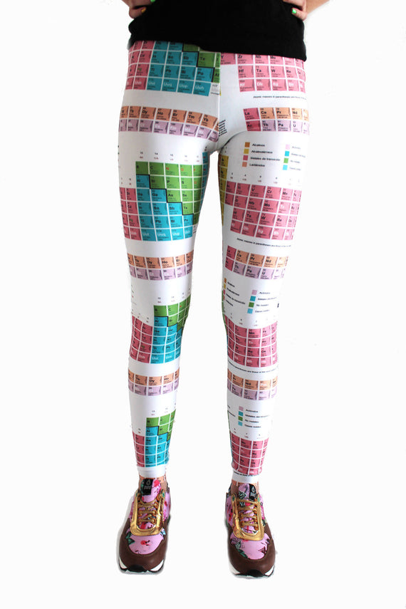 Periodic Table of Elements Leggings | Tabla Periódica Leggings Leggings- eatmeclothing