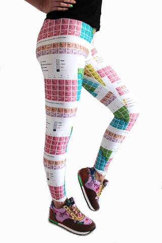 Periodic Table of Elements Leggings | Tabla Periódica Leggings