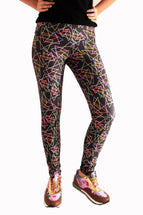 Polygon Neon Leggings | Triángulos Neón Leggings Leggings- eatmeclothing