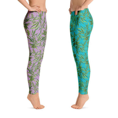 Cannabis Sativa Leggings-Leggings-Eat me!