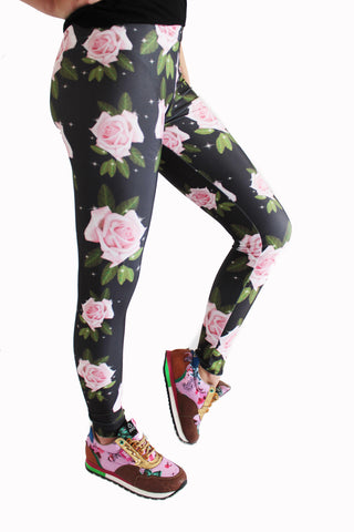 Pink Roses Leggings | Flores Rosas Leggings