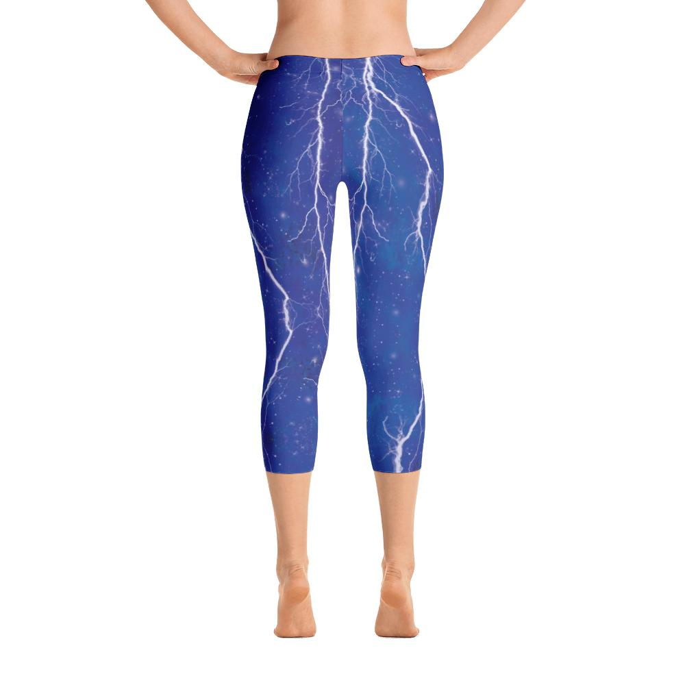 Blue Lightning Leggings | Rayos Leggings-Leggings-Eat me!