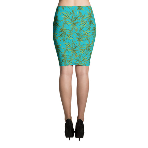 Cannabis Pencil Skirt