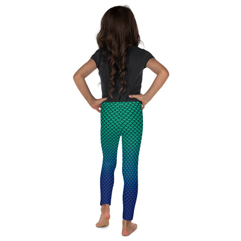 Mermaid Green Blue Kid´s Leggings | Leggings Niños Sirena Azul