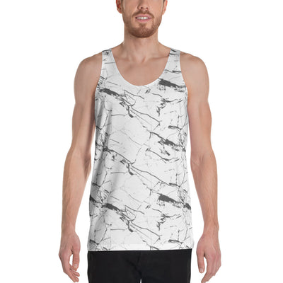 White Marble Sleeveless Shirt-Sleeveless Shirt-Eat me!