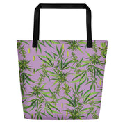Cannabis Sativa Beach Bag-Tote Bags-Eat me!