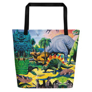 Dinosaur Beach Bag-Tote Bags-Eat me!