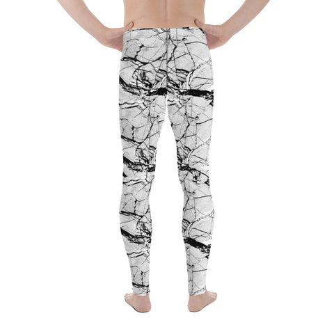 Grey Marble Performance Men's Leggings