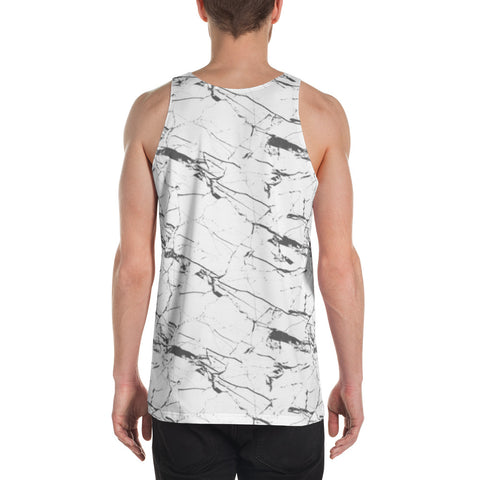 White Marble Sleeveless Shirt