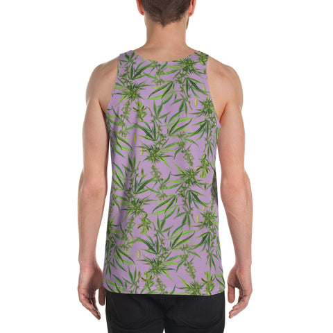 Cannabis Sativa Lilac Sleeveless Shirt | Musculosa Cannabis Sativa Lila