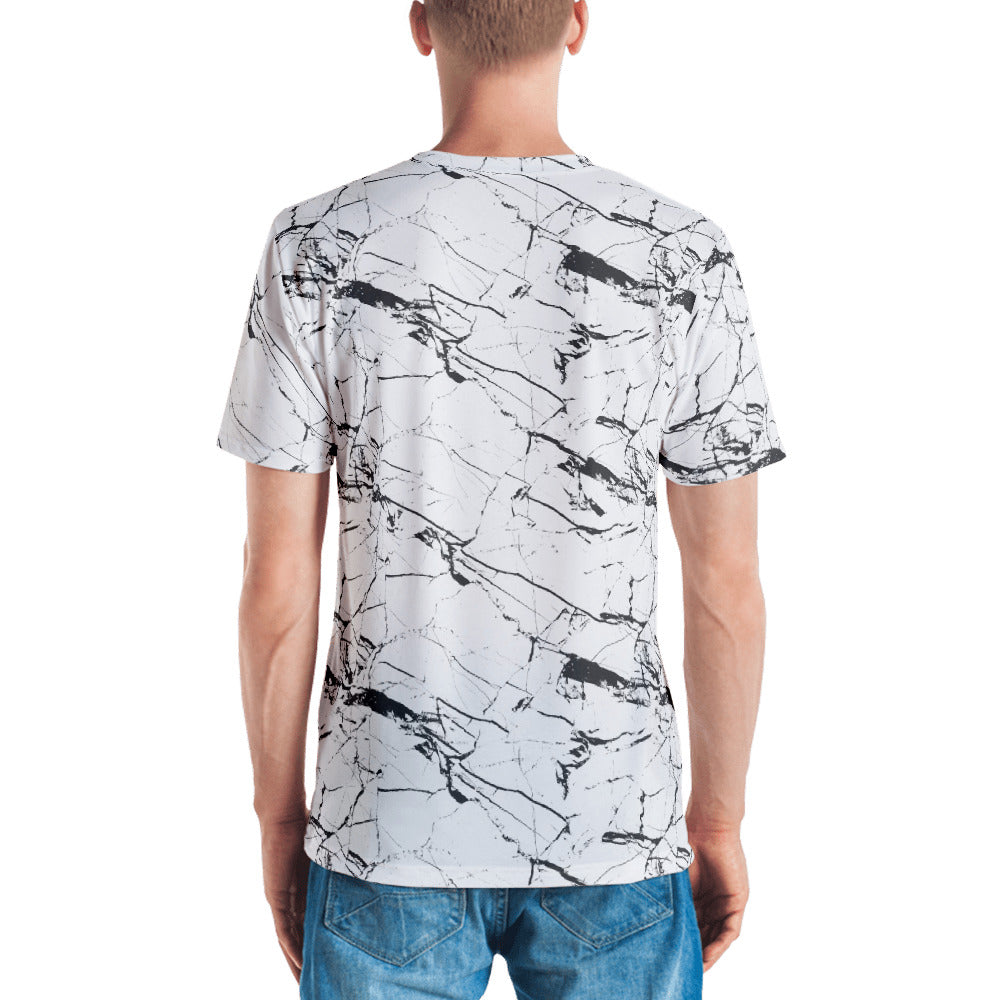 White Marble T-shirt-T-Shirts-Eat me!