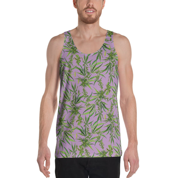 Cannabis Sativa Lilac Sleeveless Shirt | Musculosa Cannabis Sativa Lila-Sleeveless Shirt-Eat me!