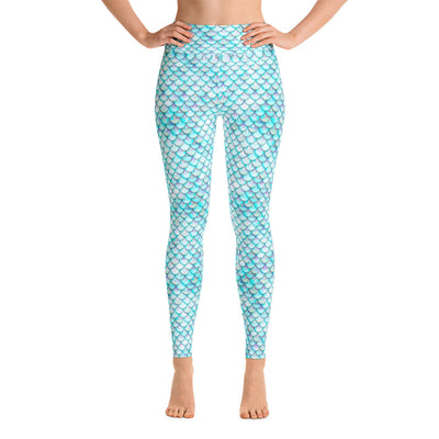 White Mermaid Yoga Leggings-Yoga Leggings-Eat me!