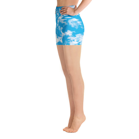 Clouds Yoga Shorts | Yoga Shorts Nubes