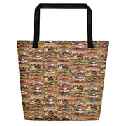 Xtra Burguer Beach Bag-Tote Bags-Eat me!