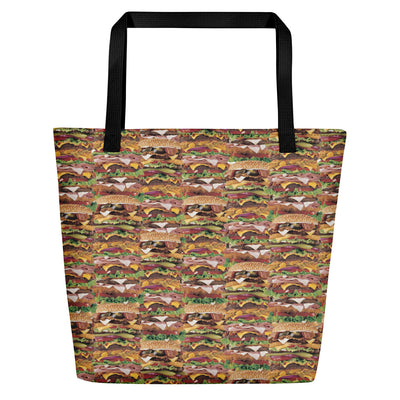 Xtra Burguer Beach Bag-Accessories-Eat me!