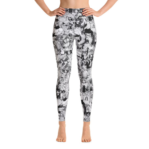 Hentai Black & White Yoga Leggings-Yoga Leggings-Eat me!