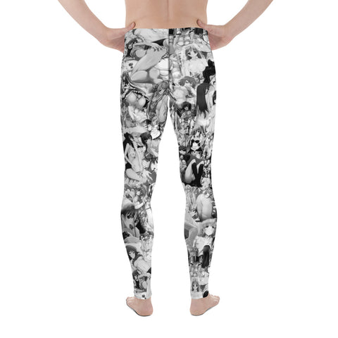 Hentai B&W Men's Leggings