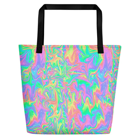 Acid Pastel Beach Bag-Tote Bags-Eat me!