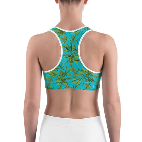 Cannabis Sports Bra-Sports Bra-Eat me!