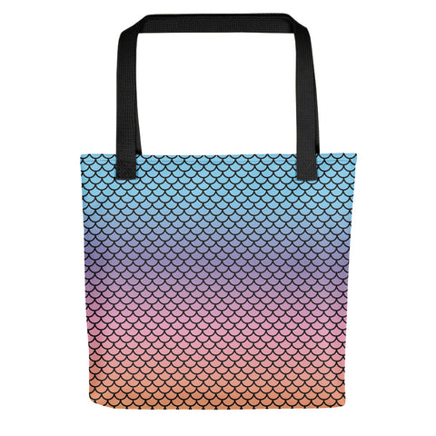 Mermaid Rainbow Tote Bag | Tote Bag Sirena Arco Iris