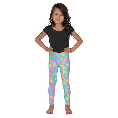Rainbow Pastel Kid's Leggings-Kids Leggings-Eat me!