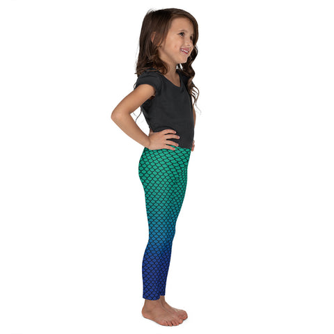 Mermaid Green Blue Kid´s Leggings-Kids Leggings-Eat me!
