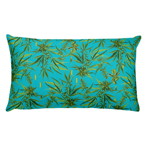 Cannabis Plant Rectangular Pillow | Cojín Rectangular Planta de Cannabis