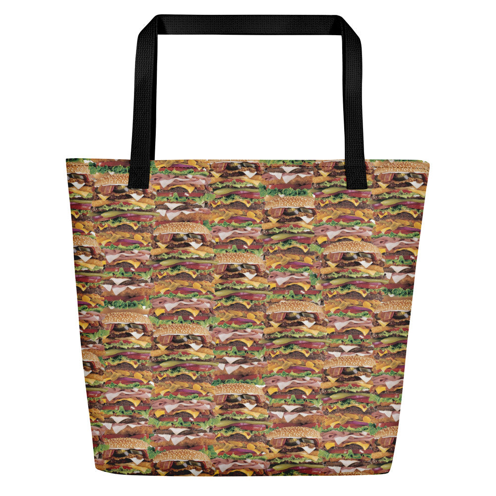Xtra Burguer Beach Bag | Bolso de Playa Hamburguesa-Beach Bags-Eat me!