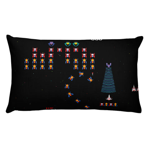 Galaga Rectangular Pillow | Cojín Rectangular Galaga