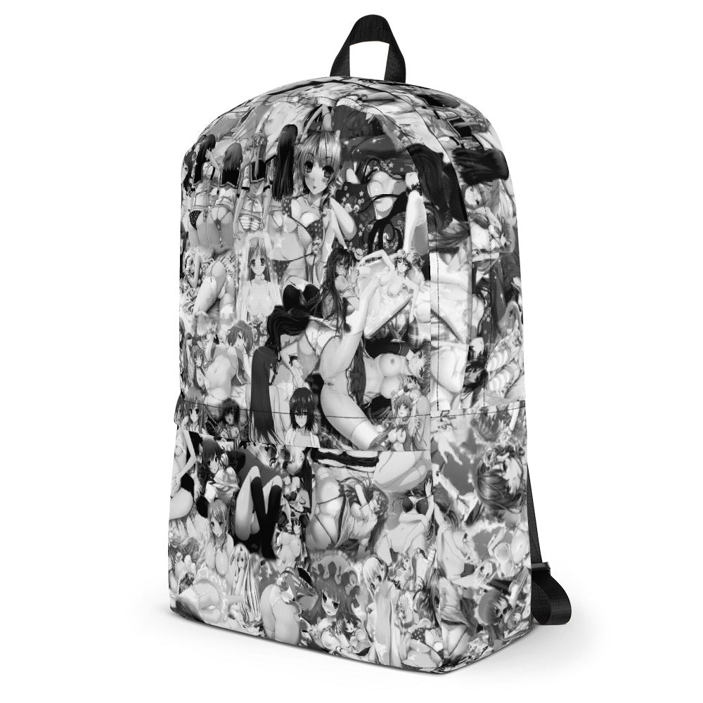 Hentai Black & White Backpack | Mochila Hentai Blanco & Negro-Backpacks-Eat me!