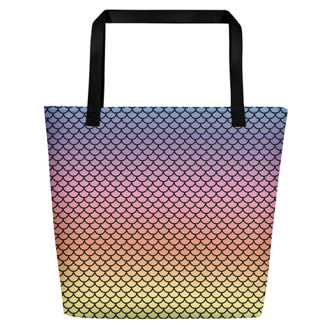 Mermaid Rainbow Beach Bag-Tote Bags-Eat me!